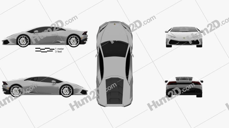 Lamborghini Huracan 2014 Clipart Image