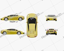 Lamborghini Gallardo 2003 car clipart