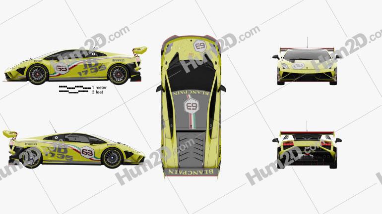 Lamborghini Gallardo LP 570-4 Super Trofeo 2013 Clipart Image
