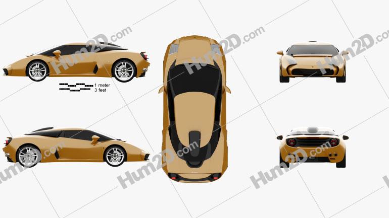 Lamborghini 5-95 Zagato 2014 Clipart Image