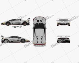 Lamborghini Huracan (LP 620-2) Super Trofeo 2014 car clipart