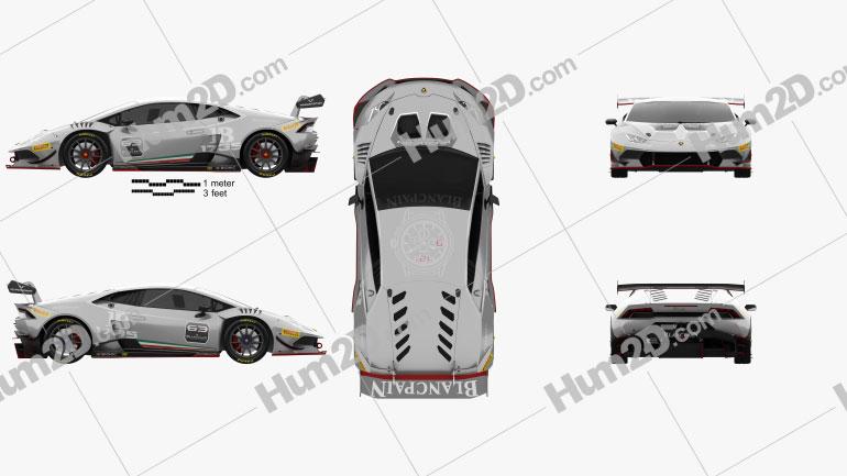 Lamborghini Huracan (LP 620-2) Super Trofeo 2014 Clipart Image
