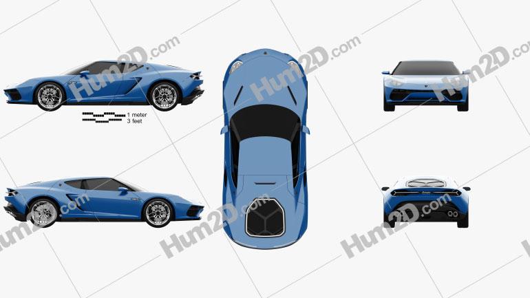 Lamborghini Asterion LPI 910-4 2014 Clipart Bild