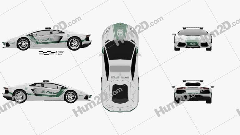 Lamborghini Aventador Police Dubai 2013 car clipart