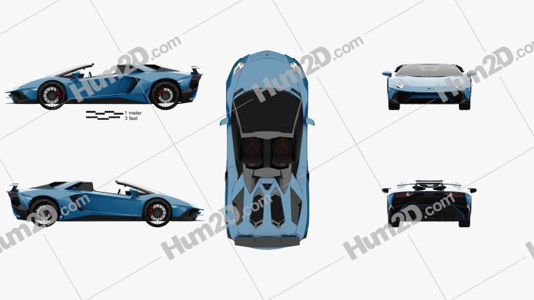 Lamborghini Aventador LP 750-4 Superveloce Roadster 2015 car clipart