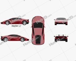 Lamborghini Huracan LP 580-2 2015 car clipart