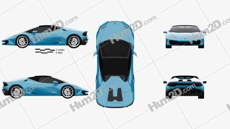 Lamborghini Huracan LP 610-4 Spyder 2015 car clipart