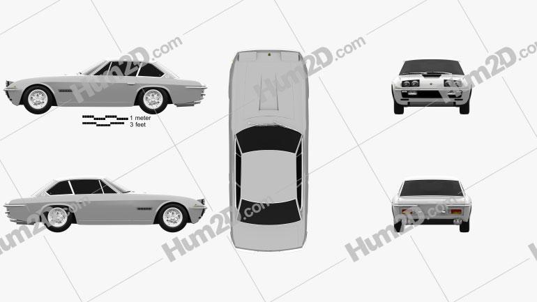 Lamborghini Islero 400 GTS 1968 car clipart