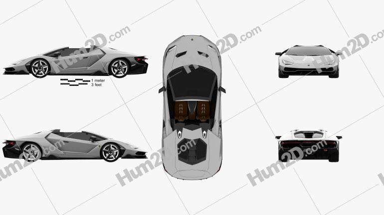 Lamborghini Centenario roadster 2017 car clipart