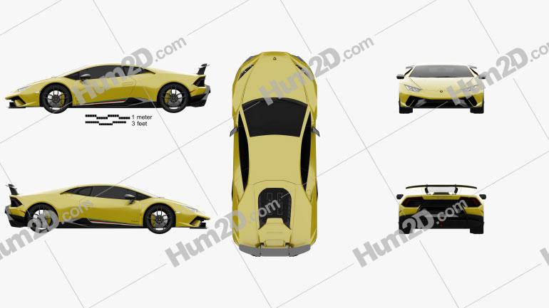 Lamborghini Huracan Performante 2017 car clipart