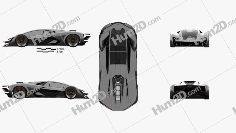 Lamborghini Terzo Millennio 2017 car clipart