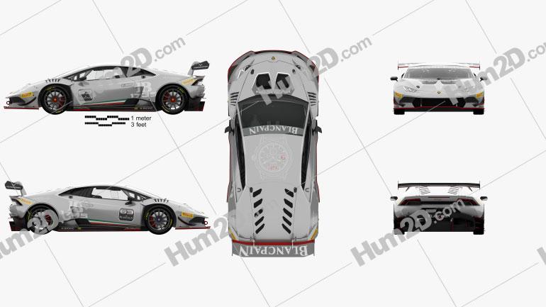 Lamborghini Huracan Super Trofeo with HQ interior 2014 car clipart