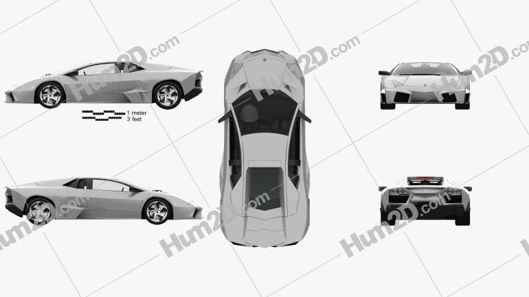 Lamborghini Reventon with HQ interior 2009 car clipart