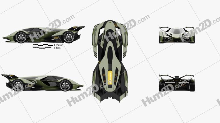 Lamborghini V12 Vision Gran Turismo 2020 car clipart