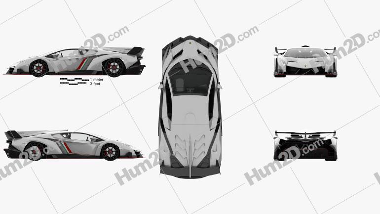 Lamborghini Veneno with HQ interior 2013 car clipart