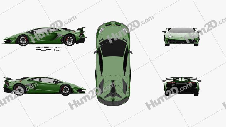 Lamborghini Aventador SVJ coupe 2019 car clipart