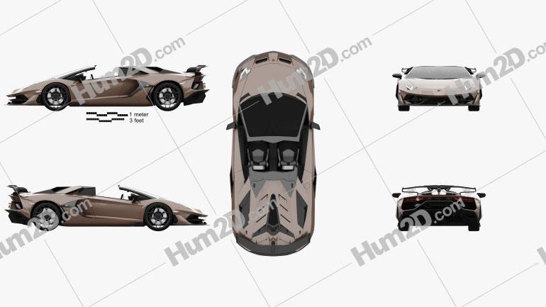 Lamborghini Aventador SVJ roadster 2019 car clipart