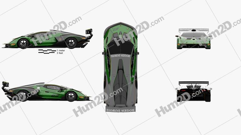 Lamborghini Essenza SCV12 2021 car clipart