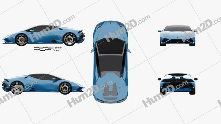 Lamborghini Huracan EVO RWD Spyder 2020 car clipart