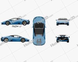 Lamborghini Huracan EVO RWD Spyder with HQ interior 2020 car clipart