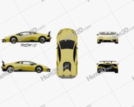 Lamborghini Huracan Performante with HQ interior 2017 car clipart