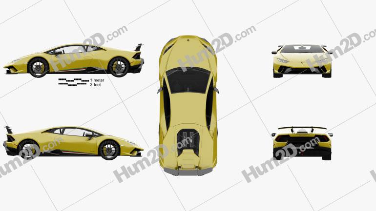 Lamborghini Huracan Performante mit HD Innenraum 2017 car clipart