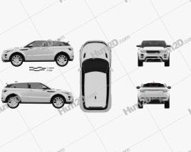 Range Rover Evoque 2011 car clipart