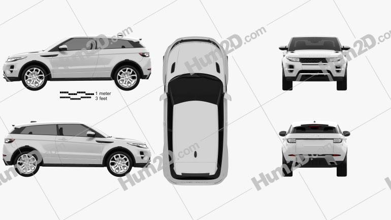Range Rover Evoque 2011 Clipart Image