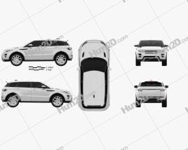 Range Rover Evoque 2012 5-door car clipart