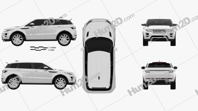 Range Rover Evoque 2012 5-door Clipart Image