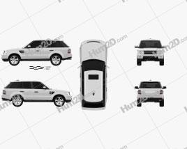 Land Rover Range Rover Sport 2011 car clipart