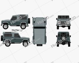 Land Rover Defender 90 Station Wagon 2011 car clipart