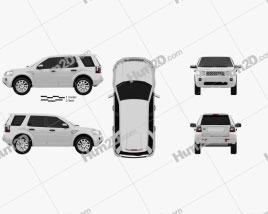 Land Rover Freelander 2 (LR2) car clipart