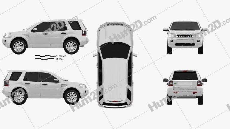Land Rover Freelander 2 (LR2) Clipart Image