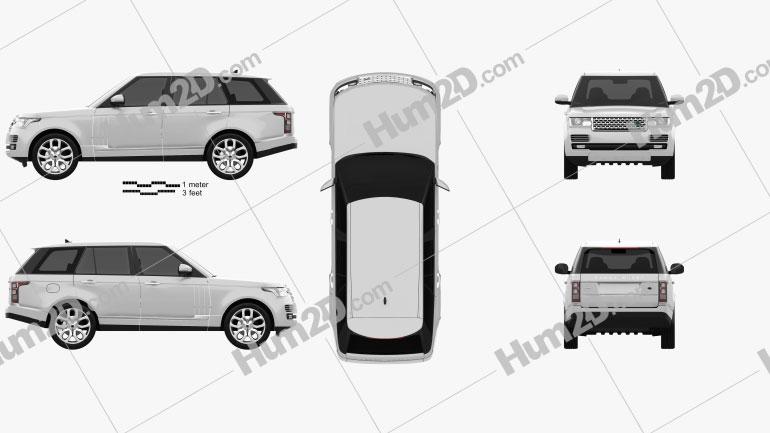 Range Rover (L405) 2014 car clipart