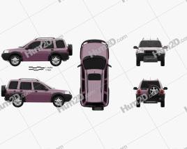 Land Rover Freelander 5-door 1997 car clipart