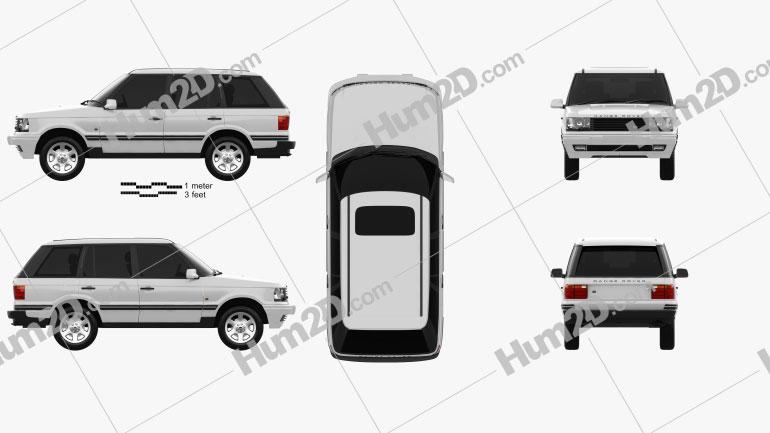 Land Rover Range Rover 1998 car clipart
