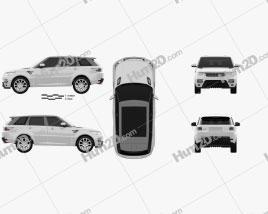 Land Rover Range Rover Sport Autobiography 2013 car clipart