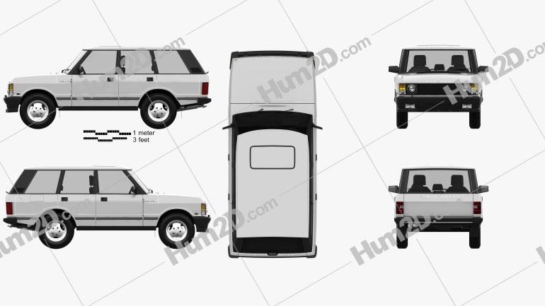 Land Rover Range Rover 1991 car clipart