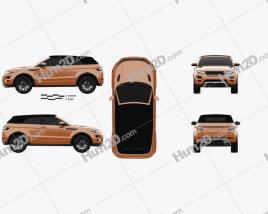 Land Rover Range Rover Evoque Convertible 2013 car clipart