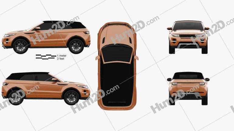 Land Rover Range Rover Evoque Convertible 2013 Clipart Image