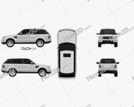 Land Rover Range Rover Sport 2009 car clipart