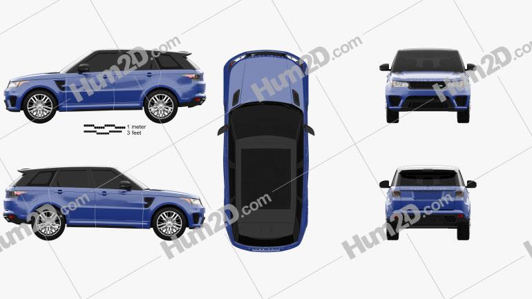 Land Rover Range Rover Sport SVR 2015 car clipart