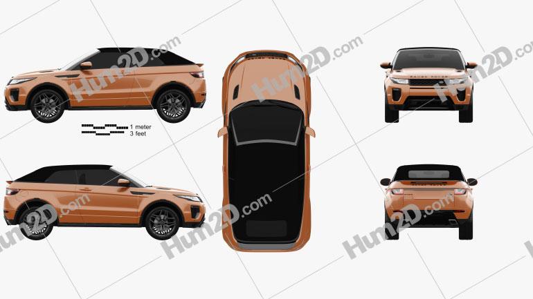 Land Rover Range Rover Evoque Convertible 2016 car clipart