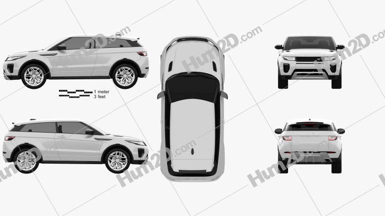 Land Rover Range Rover Evoque 3-door 2015 car clipart