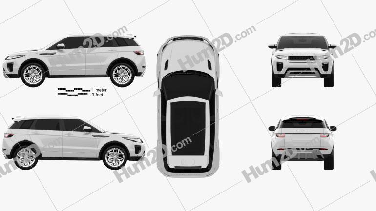 Land Rover Range Rover Evoque 5-door 2015 car clipart
