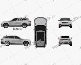 Land Rover Range Rover Velar 2018 car clipart