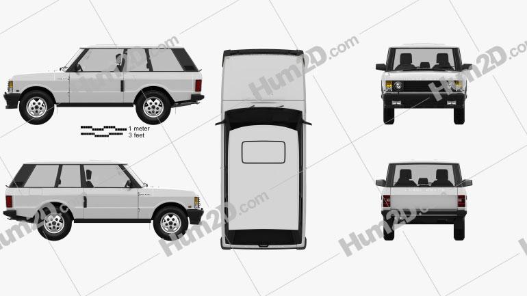 Land Rover Range Rover 3-door 1986 car clipart