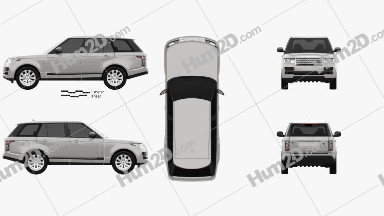 Land Rover Range Rover L405 Vogue 2014 car clipart