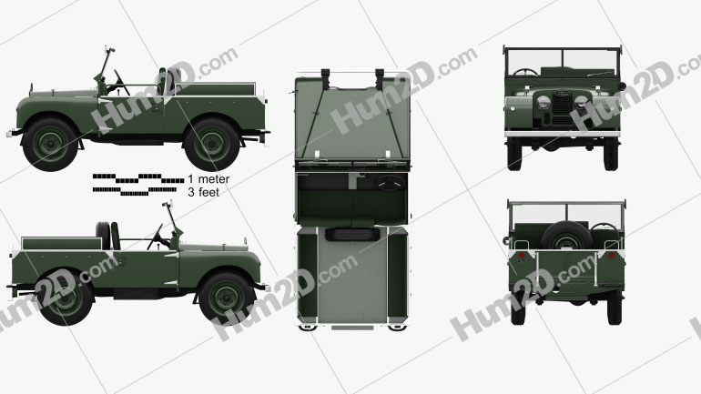Land Rover Series I Churchill 1954 car clipart